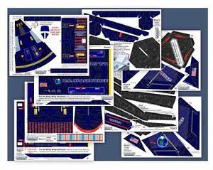 Accur8-034-Indigo-Chameleon-Skin-034-Kit-for-Estes-Cosmic-Interceptor-Model-Rocket