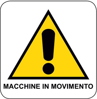 """2 TARGHETTE ADESIVE ISO 7010 /""""LAVORI IN CORSO/"""" SEGNALETICA PERICOLO SICUREZZA"""
