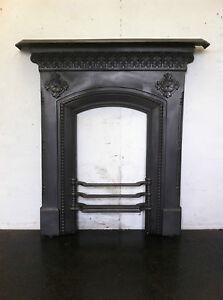 Original Restored Antique Gothic Cast Iron Small Bedroom Fireplace Em108 Ebay