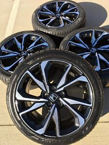 Honda Factory Rims >> Details About 18 18 Inch Honda Civic Accord Si Rims Rines Wheels Factory Oem