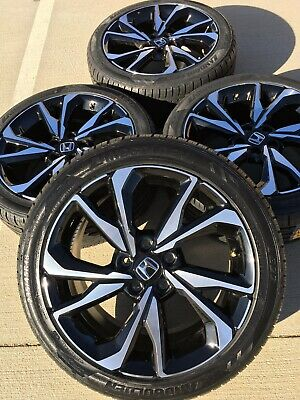 Honda Factory Rims >> 18 18 Inch Honda Civic Accord Si Rims Rines Wheels Factory Oem Ebay