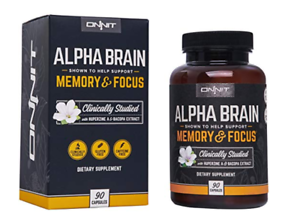 Onnit Labs Alpha Brain Memory Focus 30 Or 90 Caps 2 Year Shelf Life
