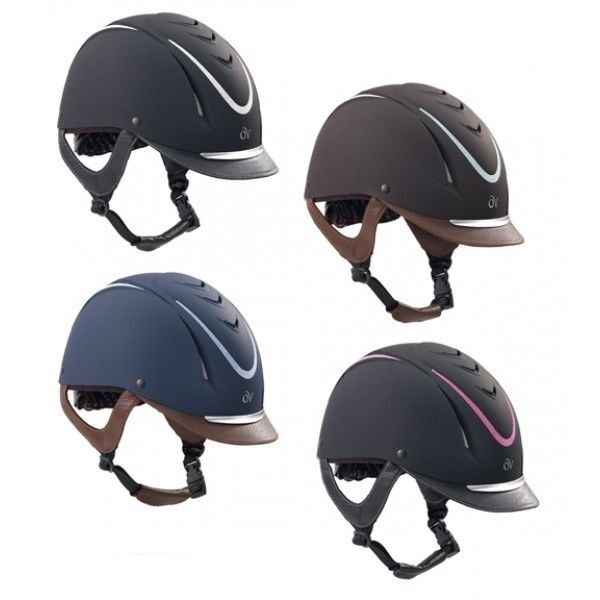 Ovation Z6 Glitz Riding Helmet with Leather Brim and Frosted Accents
