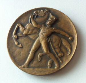 HUGUENIN Medaille Bronze 1833 1933 SCHWEIZERISCHE OFFIZIERSGESELLSCHAFT