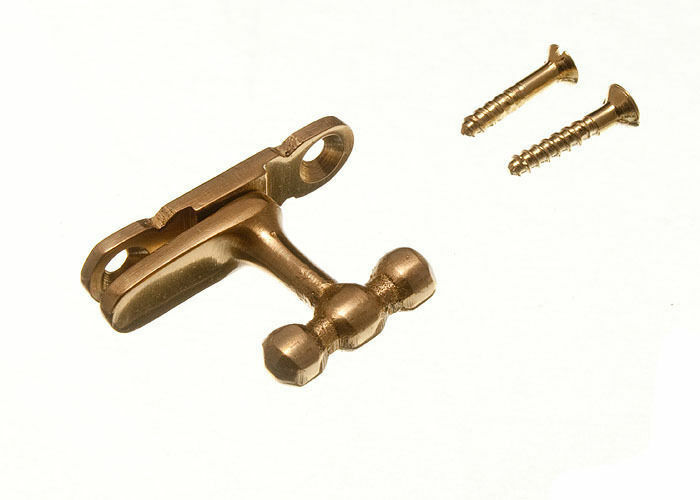 NEW SHOWCASE CABINET CATCH FASTENER POLISHED BRASS PLUS SCREWS ( BOX  100 )