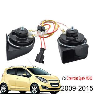 For-Chevrolet-Spark-M300-2009-2015-Snail-Horn-Loud-High-Low-Pitch-410-510Hz-12V