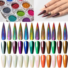 Nails Mirror Powder Glitter Dust Nail Art Holographic Chrome Pigment DIY Decors