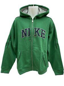 NUOVO-Nike-Sportswear-Nsw-Cotone-Felpa-Con-Cappuccio-Cerniera-Intera-Giacca-Verde-XL