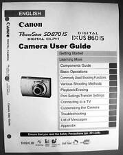 Canon Powershot SD870 IS IXUS 860 IS  Digital Camera User Guide Manual