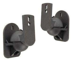 2-St-Schwarze-Universal-Wandhalterungen-f-Heimkino-Satelliten-Lautsprecher-Boxen