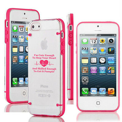 For iPhone 5 5s 6 6s 7 Plus Thin Clear Hard TPU Case Cover Cute Skilled Nurse