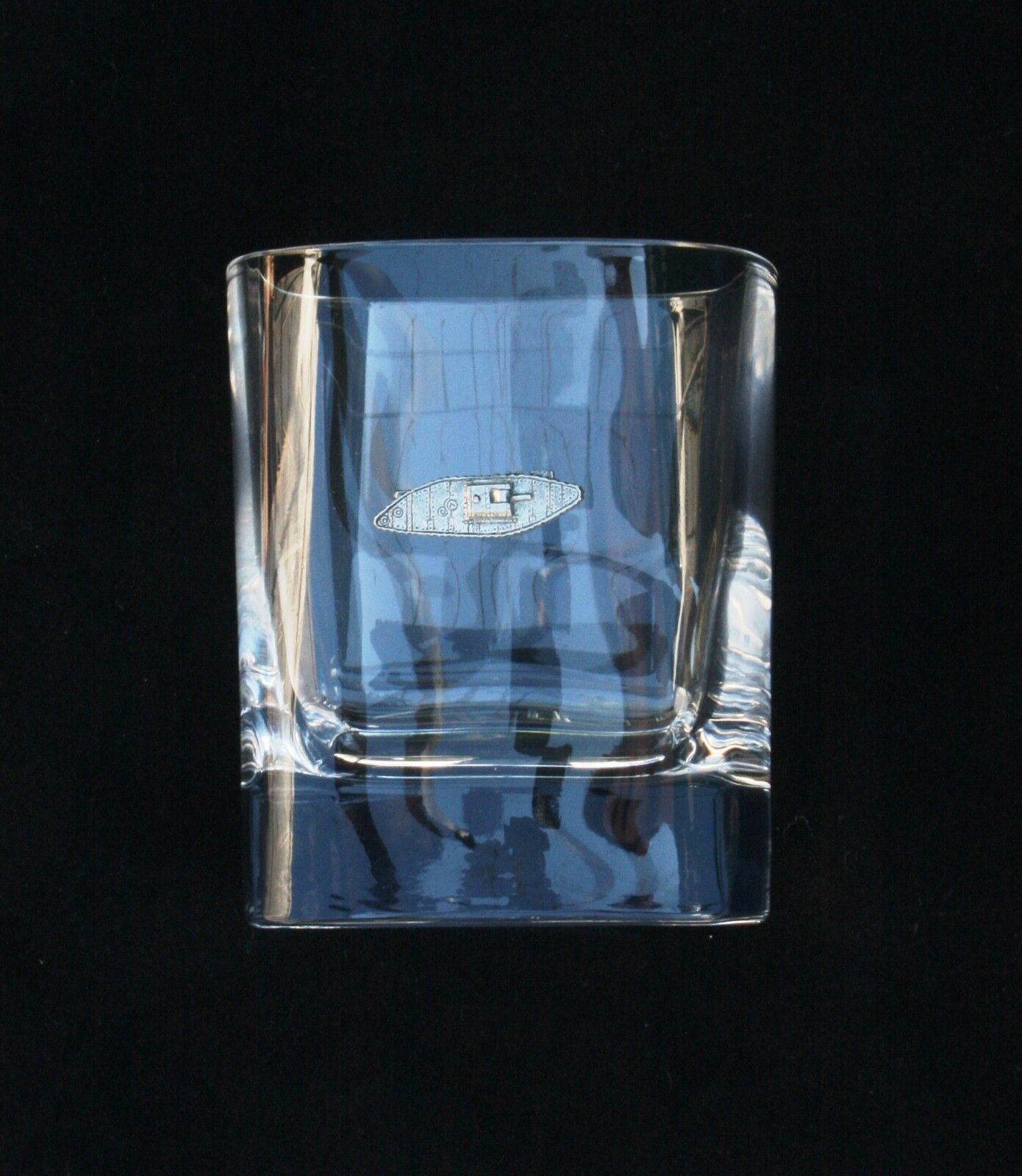 Tank Pair of Tumblers Crystal Glasses Presentation Boxed WWI Gift