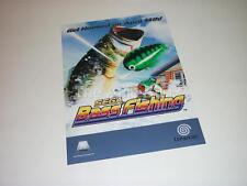 Original Advertising Material for Sega Dreamcast game 'Sega Bass Fishing'