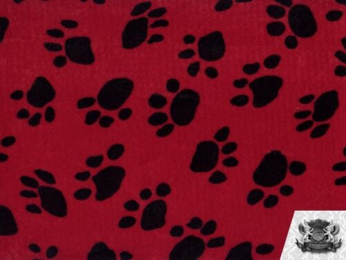 """Sold by the yard VELBOA PAW PRINT Faux Fur Fabric 60/""""X36/"""""""