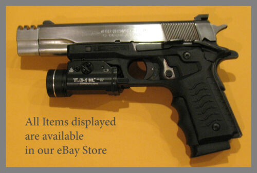 Hogue Wraparound Rubber Grips with Finger Grooves 1911 Colt .45 9mm #C45-000