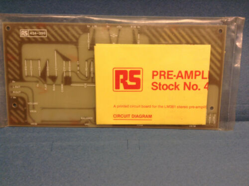 RS PCB for LM381 stereo pre-amplifier 434-396 Radio Spares New Old Stock