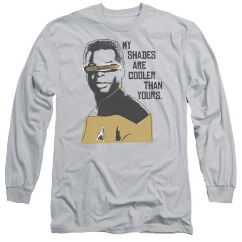 Star Trek TNG Next Gen Geordi COOLER SHADES Adult Long Sleeve T-Shirt S-3XL