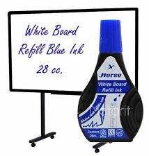 Refill WHITE BOARD INK BLUE 28 cc. For Whiteboard Pen Marker Tinte No Toxic