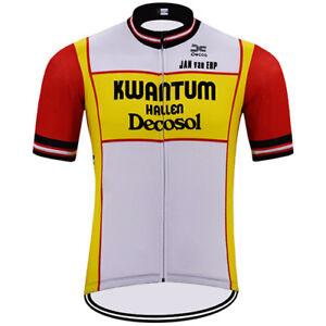 KWANTUM Cycling Jersey Retro Road Pro Clothing MTB Short Sleeve Bike ... d4fd479c6