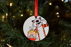 Calvin and Hobbes Christmas Ornament - Making Funny Faces | eBay