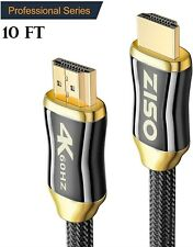 10FT v2.0 HDMI Cable4K @60Hz 4096 x 2160p HDR UHD 4:4:4 18GbpsHDCP 2.2 lot