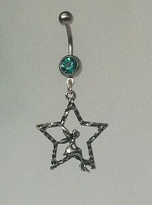 FAIRY-in-STAR-Belly-Bar-dangle-Choice-of-colour-UK-made-FREE-POST
