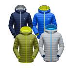 Hot Mens Light Weight Puffer Duck Down Jacket Winter Hoodie Parka Warm Coats