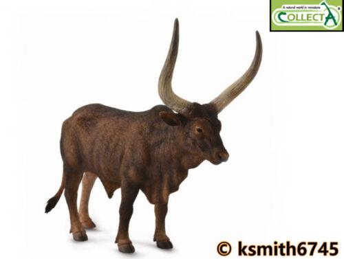 CollectA Ankole Watusi Bull solide Jouet en plastique Ferme Pet Animal Sauvage Zoo * nouveau