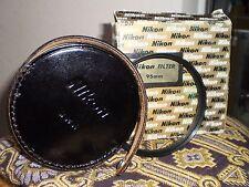 NIKON 95MM L39 LENS FILTER UV; MINT; HARD BLACK LEATHER CASE;ORIGINAL BOX