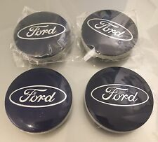 Ford 54mm Blue Alloy Wheel Centre Caps Fits Models including B-Max Kuga S-max