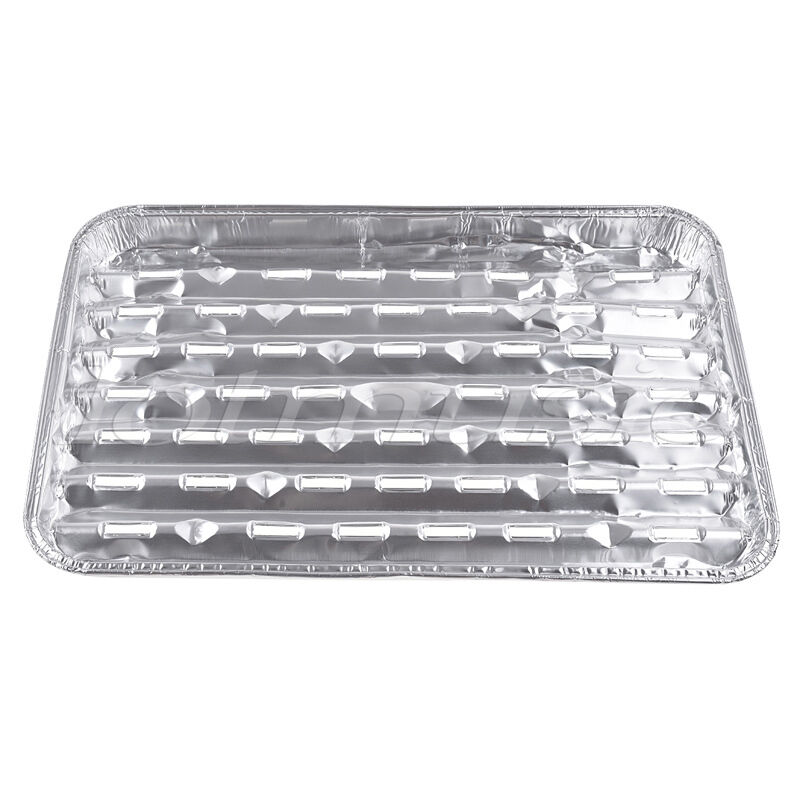 10 Sets Disposable Aluminum Barbecue Foil Barbecue Aluminum Grill Plate for Picnic and Barbecue 4ab6da