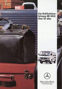 Mercedes-Transporter-Prospekt-1992-6-92-brochure-Broschuere-LKW-brosjyre-broschyr