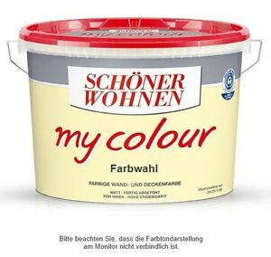 sch ner wohnen my colour 10l farbwahl 3 80 liter neuware ovp ebay. Black Bedroom Furniture Sets. Home Design Ideas