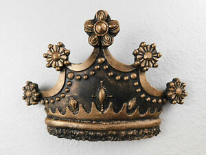 Wall Plaque Decor Queen Old World Crown Medieval Cross King Fleur de Lis