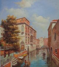 """20"""" x 24"""" Oil Painting on Stretched Canvas: Stunning Venice Waterways"""