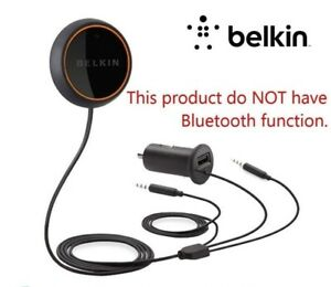 Details About Belkin Caraudio Connect Aux In Car Handsfree W Usb Charger F8m118qe