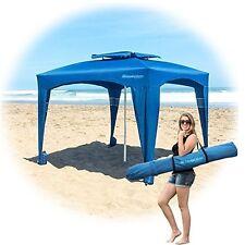 Blue Large Cabana Beach Tent Canopy Umbrella Outdoor Sun UV Shelter Camping NEW