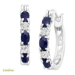 3-ct-Blue-Sapphire-Hoop-Earrings