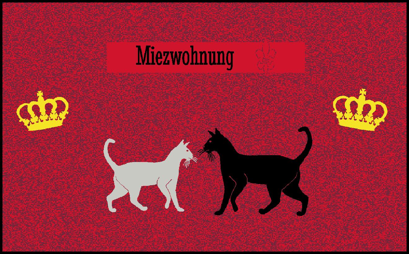 Fußmatte mit Namen Napfunterlage Katzenmatte  120x75 cm  Design 37180257