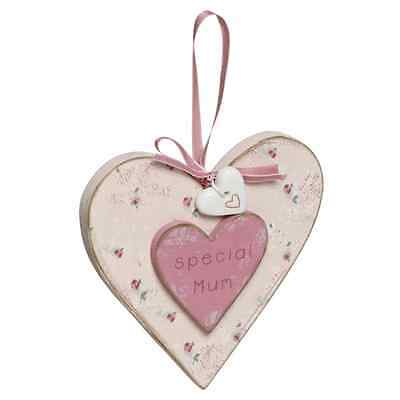 Special Mum Wooden Hanging Heart Plaque By Love Home Range Mother's Day Gifts