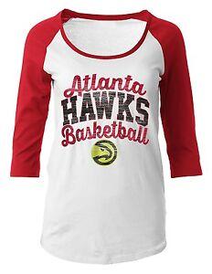 Atlanta-Hawks-Shirt-Maternity-Womens-SZ-M-Basketball-3-4-Sleeve-Scoop-Pregnancy