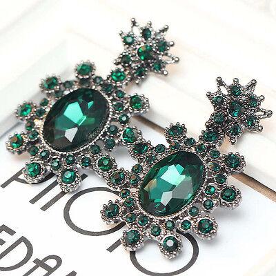 2015 New design women gorgeous bib statement  mixed crystal long Earrings e310