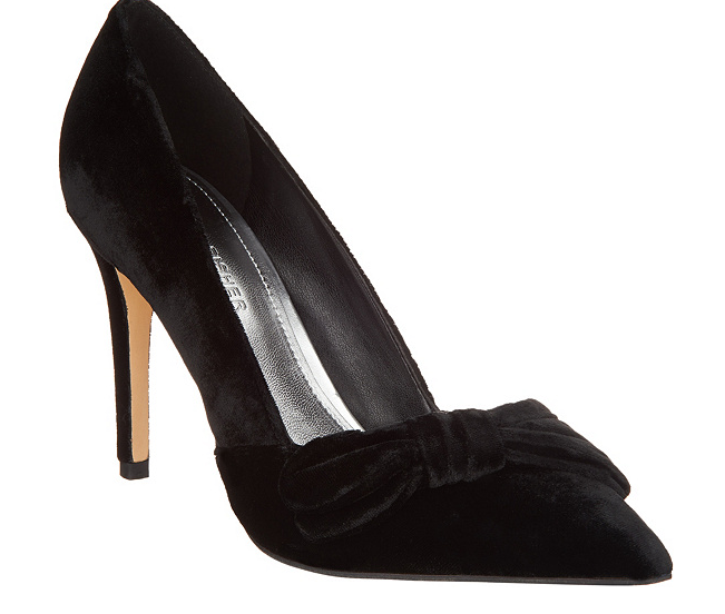 Marc Marc Marc Fisher Velvet Bow Pumps - Nighta Black Velvet Women's Heels Size 5 New be20e3