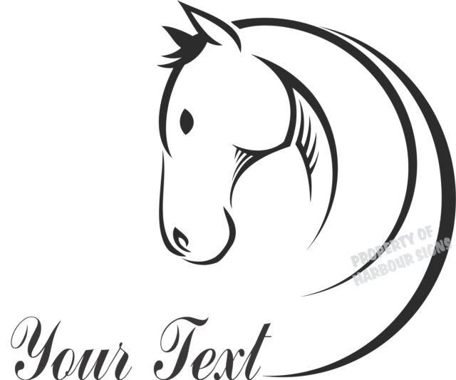 "Horse Equestrian  24"" Custom Decal Trailer Truck Car Window Vinyl Sticker"