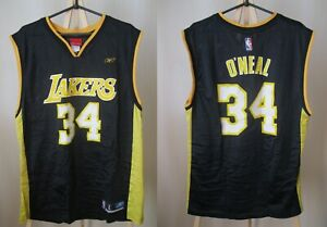 Los-Angeles-Lakers-34-Shaquille-O-039-Neal-Sz-L-Reebok-jersey-shirt-Basketball