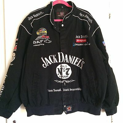 JH Design Jack Daniels RCR Nascar Black Twill Racing Jacket Mens 3XL