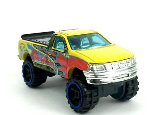 Hot-Wheels-1997-97-Ford-F-150-Pickup-Pick-Up-Truck-Yellow-Die-Cast-1-64-Loose