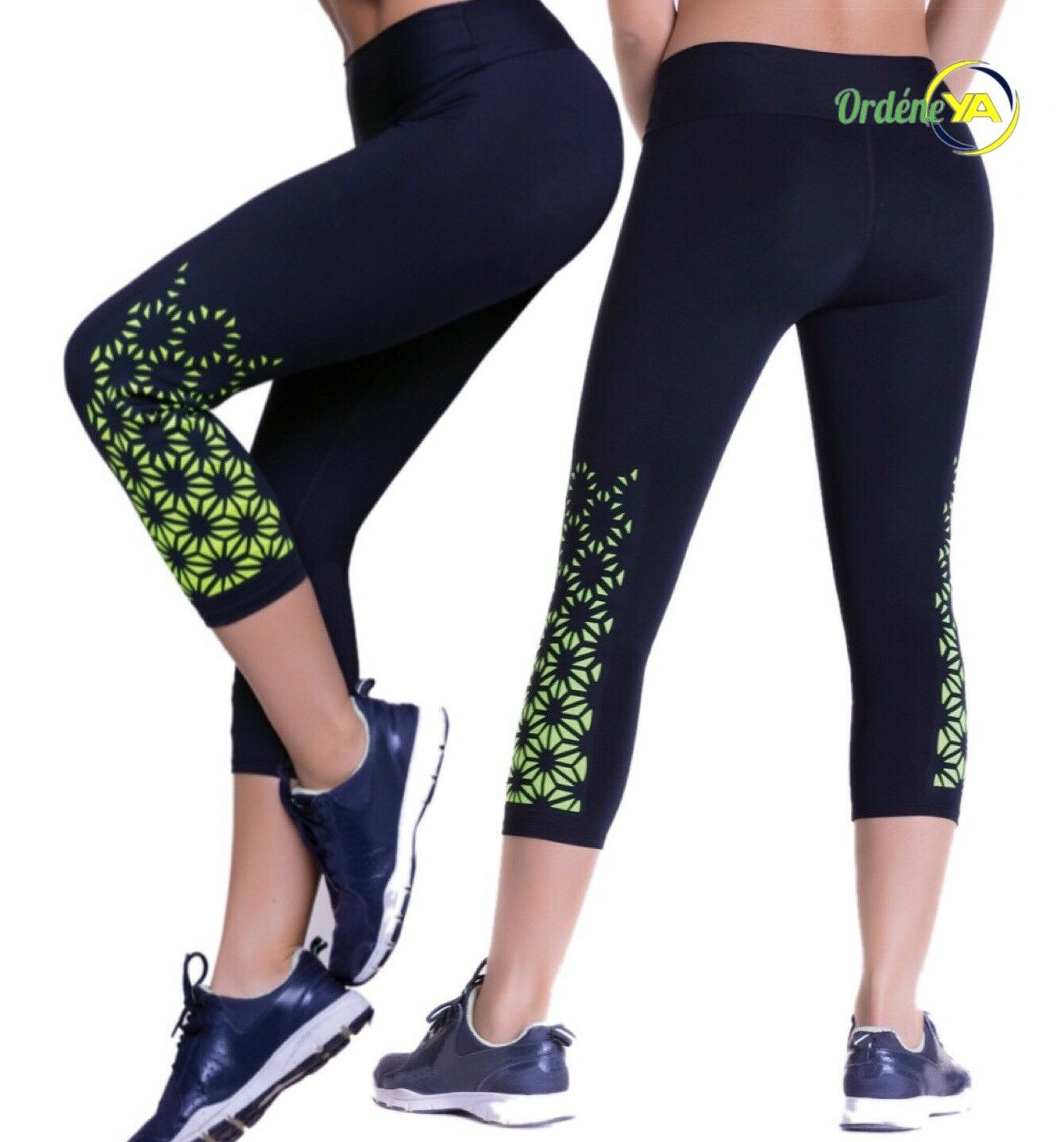 LEGGINGS DAILY BASIC MEDIAS CONTROL SLIM CROP WORKOUT YOGA  PANTS COLOMBIANO