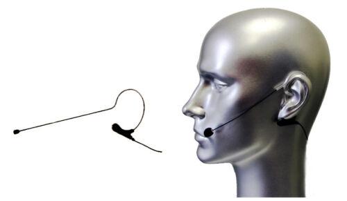 Black Headset Mic w TA4F for Shure Wireless Transmitter