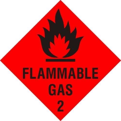 Flammable Gas 2 Warning Vehicle Label Large Sticker Decal Graphic Vinyl Label